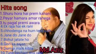 Mohammad Aziz Hindi Bollywood song,,hits song,  non stop music