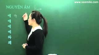 [Dichthuatperso.com] Học tiếng hàn quốc-Bài 1- Nguyên ÂM