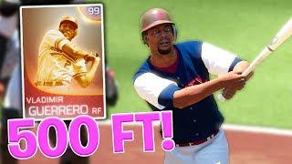 500 FOOT HOMERUN FROM 99 VLADIMIR GUERRERO! MLB The Show 18 | Diamond Dynasty