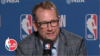 Nick Nurse on Kawhi Leonard: 'He's just so good' | 2019 NBA Playoffs
