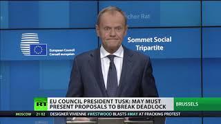 Donald Tusk: May must present proposals to break deadlock