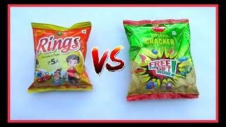 Rings VS Pran Potato Crackers Surprise Toys