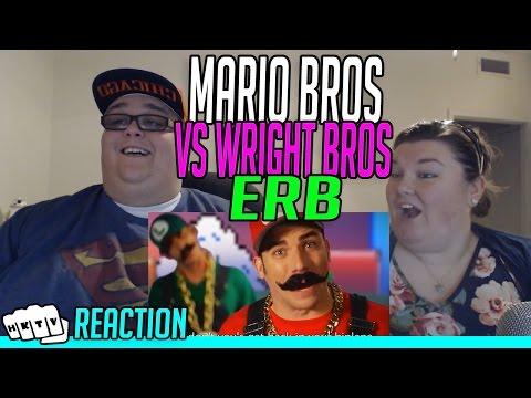 MARIO BROS vs WRIGHT BROS ERB REACTION!!🔥