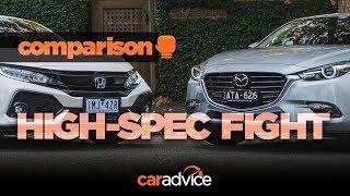 COMPARISON! Honda Civic v Mazda 3