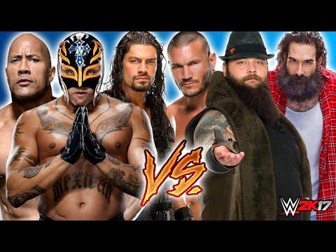 Roman Reigns & Rey Mysterio & The Rock Vs. Bray Wyatt & Randy Orton & Luke Harper (Wyatt Family) SDL