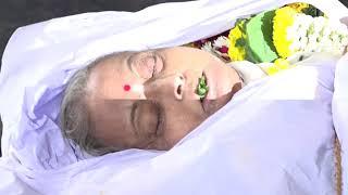 ACTORESS  REETA BHADURI FUNERAL WITH MANY TV ARTIST