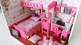 DIY Girly Miniature Dollhouse PART1    Tia Tia