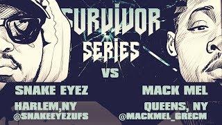 SNAKE EYEZ VS MACK MEL SMACK/ URL RAP BATTLE