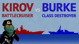 Kirov Battlecruiser vs Burke Destroyer