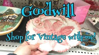 Goodwill Thrift With Me | Buying Vintage Things To Resell For Profit!
