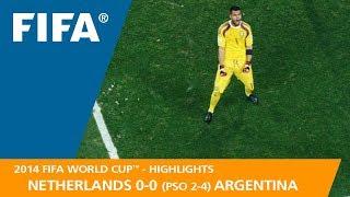 NETHERLANDS v ARGENTINA (0:0 PSO 2:4) - 2014 FIFA World Cup™