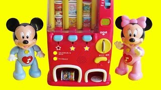 Learn shapes directions Mickey Mouse Clubhouse drinks snacks vending machine 自動販売機