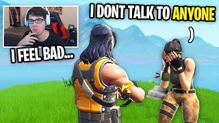 I met a kid with NO FRIENDS to talk to... (I BECAME HIS FRIEND on Fortnite)