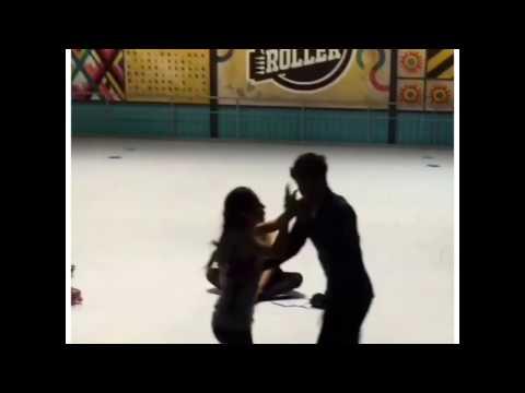 Karol e Michael dançando no tempo livre das gravações de Sou Luna 2