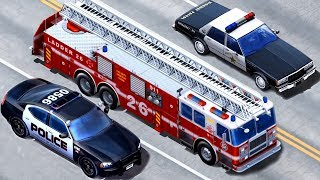 Kids Vehicles Emergency - Police Car, Fire Truck, Tow Truck  Kids Construction Vehicles App for Kids
