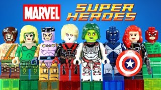 Marvel Superheroes w/Gamora & Black Widow Unofficial LEGO Minifigures