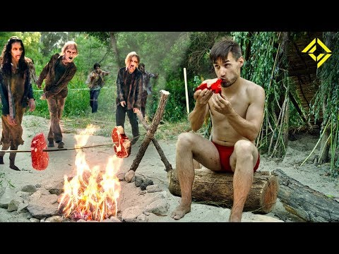 Primitive Technology CRAFTING a Zombie Meat Harvester