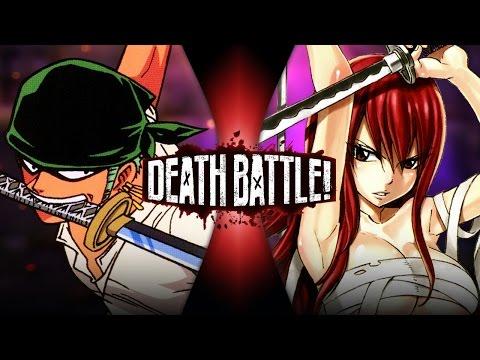 Zoro VS Erza (One Piece VS Fairy Tail) | DEATH BATTLE!