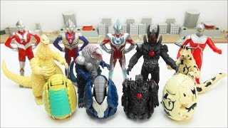 ULTRA EGG  Ultraman Ginga Tiga Seven ULTRA HEROES  Redking Golza Dark Lugiel  MONSTERS   BANDAI