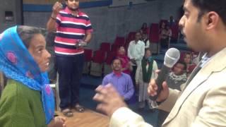Blind eyes healing testimony !
