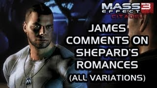 Mass Effect 3 Citadel DLC: James comments on Shepard's romances