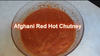 Red Hot Chilli Chutney - Easy Recipe