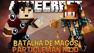 Batalha de Magos Controlando Elementos !! - Particle Man Mod Minecraft