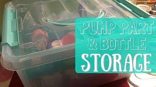 Pump Part & Bottle Storage // Momma Alia
