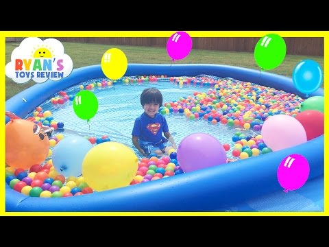 Xxx Mp4 BALLOON POP SURPRISE TOYS CHALLENGE In Giant Ball Pit 3gp Sex
