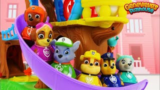 Best Learning Video for Kids Paw Patrol Toy Weebles Adventure Bay and Treehouse Playsets Teach Kids!