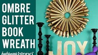 DIY Book Paper Cone Wreath with Kyrlon Spray Paint