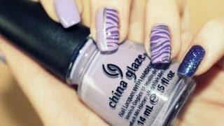 Purple Animal Print- Nail Design