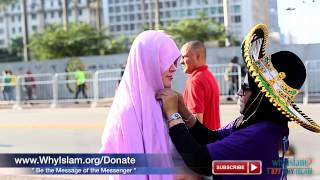 Brazilian Women Try Hijab and Love It | WhyIslam FIFA Highlights #12