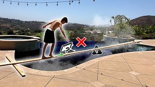 TRY NOT TO FALL into the PAINFUL POOL CHALLENGE! **bad idea**