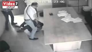 كاميرات المراقبة ترصد لحظات سطو مسلح لسرقة خزينة شركة  كيميفارم  للأدوية