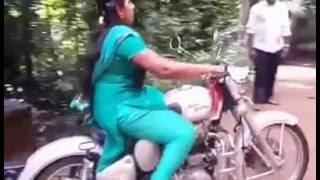 Kerala girl riding bullet 350cc