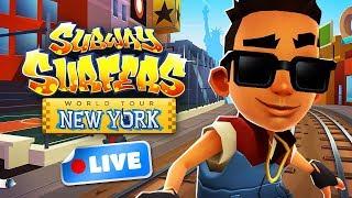 🔴 Subway Surfers World Tour 2018 - New York Gameplay Livestream