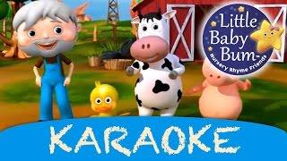 Old MacDonald Had A Farm | Karaoke Version With Lyrics HD from LittleBabyBum!