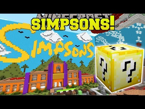 Minecraft SIMPSONS HOUSE HUNGER GAMES Lucky Block Mod Modded Mini Game