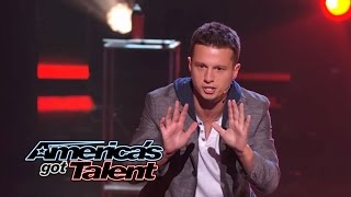 Mat Franco: Magician Uses Fire to Reveal Card Trick - America's Got Talent 2014
