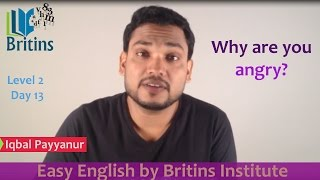 Why are you angry?- Spoken English in Malayalam- Level 2, Day 13