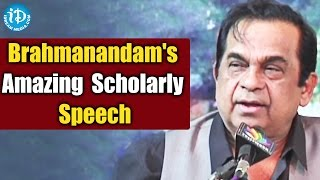 Brahmanandam's Amazing Scholarly Speech @ KOPPARAPU KAVULU 120th year of journey of Avadhaanam