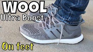 Adidas Ultra Boost Cream Chalk On Feet