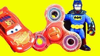 Fidget Spinner Competition With Imaginext Batman Joker Disney Cars 3 Lightning McQueen & Paw Patrol