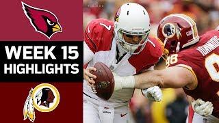 Cardinals vs. Redskins   NFL Week 15 Game Highlights