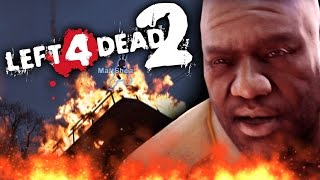 LEFT 4 DEAD 2 FUNNY MOMENTS | Tower of Fire (L4D2 Funtage)