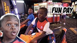 TOOK THE KID'S TO THE ARCADE & HAD A FUN DAY!!