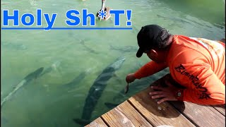 FISH ALMOST BITES MY DADS HAND!!! (Fishing Part 2)