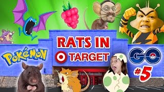 RATS IN TARGET STORES! POKEMON GO Part 5 (FGTEEV GYM Win, EGG HATCHING & EVOLVE Gameplay)