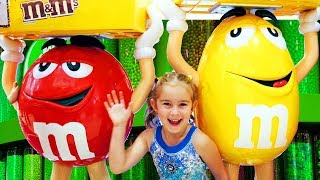 Funny Baby at Candy Store Dubai Mall Shopping Supermarket Song for Children Kids by MelliArt